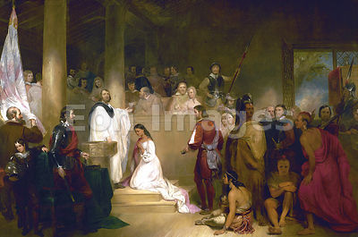Baptism of Pocahontas by Chapman