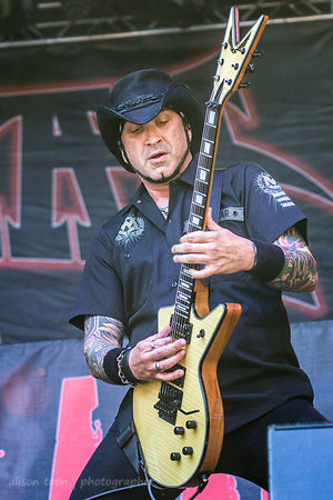 Tom Maxwell of HELLYEAH, Aftershock 2014