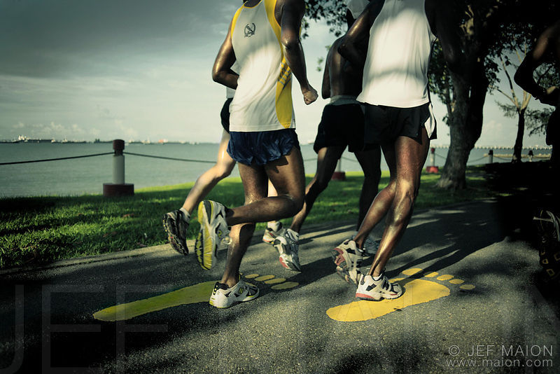 black men running singapore asia image id sing0523 model release no ...