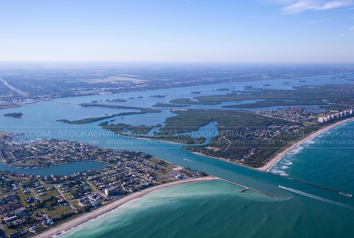 Aerial Photo   Fort Pierce Inlet, Florida